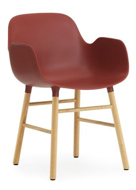 Normann Copenhagen - Chair - Form Chair - Red/Oak