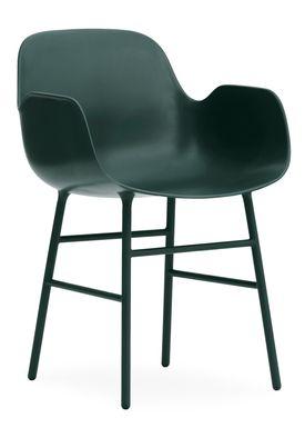 Normann Copenhagen - Stol - Form Armchair - Grøn/Grøn