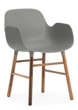 Normann Copenhagen - Stol - Form Armchair - Grå/Valnød