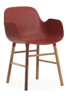 Normann Copenhagen - Stol - Form Armchair - Rød/Valnød