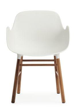 Normann Copenhagen - Stol - Form Armchair - Hvid/Valnød