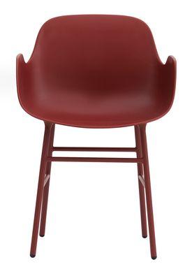 Normann Copenhagen - Stol - Form Armchair - Rød/Rød