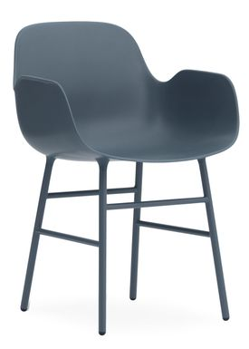 Normann Copenhagen - Stol - Form Armchair - Blå/Blå
