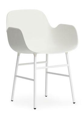 Normann Copenhagen - Stol - Form Armchair - Hvid/Hvid