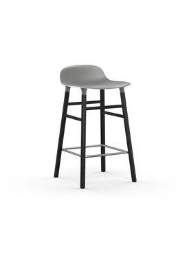 Normann Copenhagen - Stol - Form Barstool - 65 cm - Grå/Sort Eg
