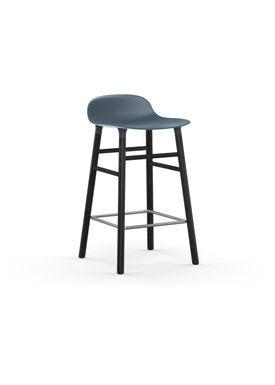 Normann Copenhagen - Chair - Form Barstool - 65 cm.  - Blue/Black Oak
