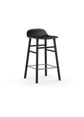 Normann Copenhagen - Chair - Form Barstool - 65 cm.  - Black/Black Oak