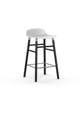 Normann Copenhagen - Chair - Form Barstool - 65 cm.  - White/Black Oak