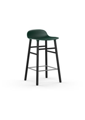 Normann Copenhagen - Chair - Form Barstool - 65 cm.  - Green/Black Oak