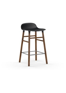 Normann Copenhagen - Chair - Form Barstool - 65 cm.  - Black/Walnut