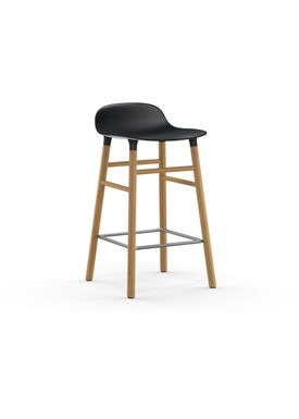 Normann Copenhagen - Chair - Form Barstool - 65 cm.  - Black/Oak