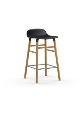 Normann Copenhagen - Stol - Form Barstool - 65 cm - Sort/Eg