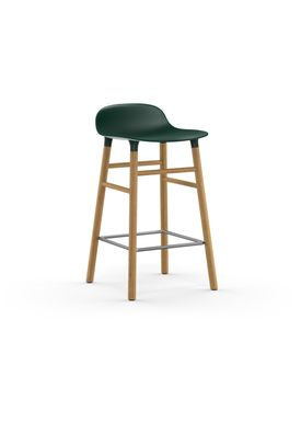 Normann Copenhagen - Chair - Form Barstool - 65 cm.  - Green/Oak