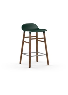 Normann Copenhagen - Chair - Form Barstool - 65 cm.  - Green/Walnut