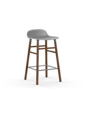 Normann Copenhagen - Chair - Form Barstool - 65 cm.  - Grey/Walnut
