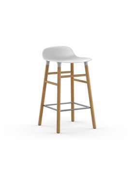 Normann Copenhagen - Chair - Form Barstool - 65 cm.  - White/Oak