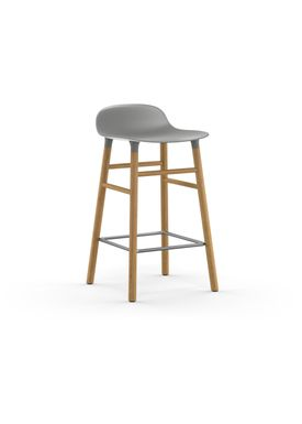 Normann Copenhagen - Stol - Form Barstool - 65 cm - Grå/Eg