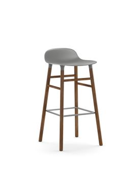 Normann Copenhagen - Chair - Form Barstool - 75 cm.  - Grey/Walnut