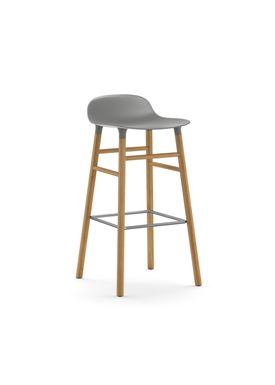 Normann Copenhagen - Chair - Form Barstool - 75 cm.  - Grey/Oak