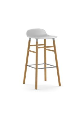 Normann Copenhagen - Chair - Form Barstool - 75 cm.  - White/Oak