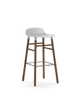 Normann Copenhagen - Chair - Form Barstool - 75 cm.  - White/Walnut