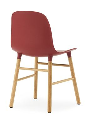 Normann Copenhagen - Stol - Form Chair - Rød/Eg