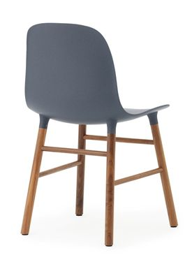 Normann Copenhagen - Stol - Form Chair - Blå/Valnød