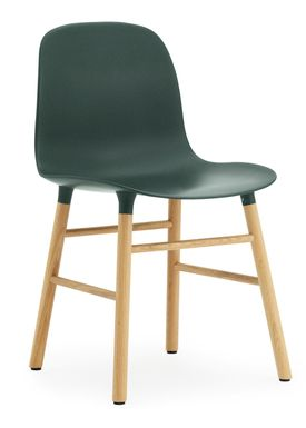 Normann Copenhagen - Stol - Form Chair - Grøn/Eg