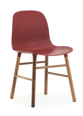 Normann Copenhagen - Stol - Form Chair - Rød/Valnød