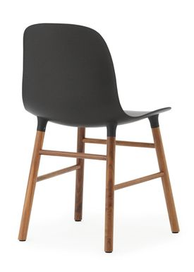 Normann Copenhagen - Stol - Form Chair - Sort/Valnød