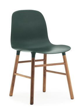 Normann Copenhagen - Stol - Form Chair - Grøn/Valnød