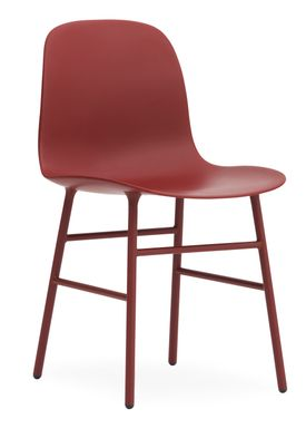 Normann Copenhagen - Stol - Form Chair - Rød/Rød