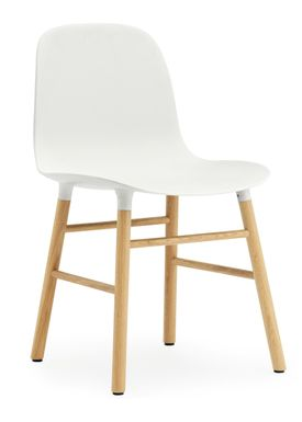 Normann Copenhagen - Stol - Form Chair - Hvid/Eg