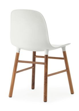 Normann Copenhagen - Stol - Form Chair - Hvid/Valnød