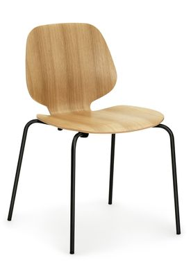 Normann Copenhagen - Stol - My Chair - Oak / Sorte ben