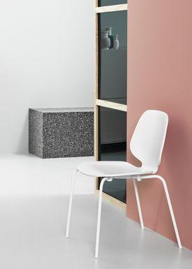 Normann Copenhagen - Stol - My Chair - Hvid / Hvide ben