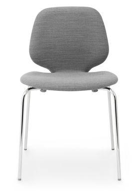 Normann Copenhagen - Chair - My Chair - Fabric / Hallingdal / Steel legs