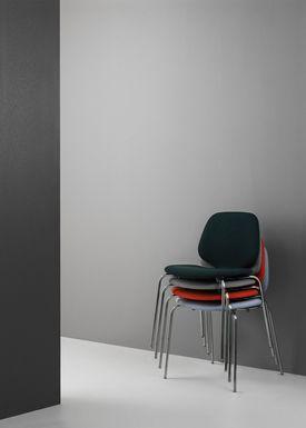 Normann Copenhagen - Stol - My Chair - Stof / Crisp / Stål ben
