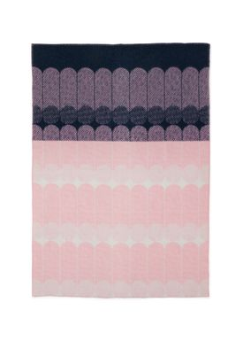 Normann Copenhagen - Carpet - Ekko Throw Blanket - Navy/ Rose