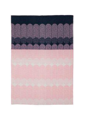 Normann Copenhagen - Tæppe - Ekko Throw Blanket - Marineblå/ Rose