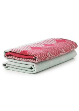 Normann Copenhagen - Tæppe - Ekko Throw Blanket - Hindbær/ Mint