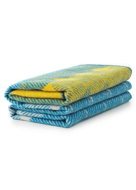 Normann Copenhagen - Carpet - Ekko Throw Blanket - Yellow/ Dusty Blue