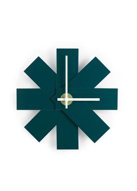 Normann Copenhagen - Watch - Watch Me Wall Clock - Petrol Green