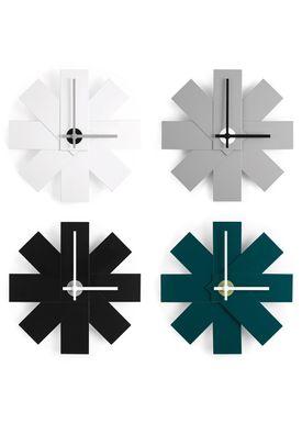 Normann Copenhagen - Ur - Watch Me Wall Clock - Petroleum