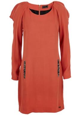 Mia Dress Kjole Brændt Orange