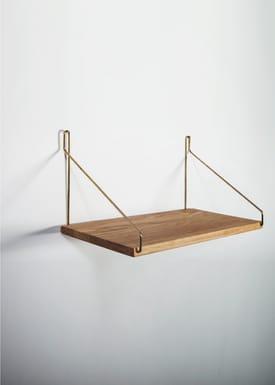 FRAMA - Hylde - Oak Shelf - 40 cm.  - Eg/Messing