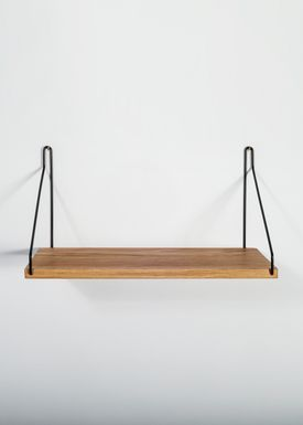 FRAMA - Shelf - Oak Shelf - 40 cm. - Oak/Black