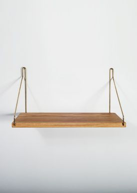 FRAMA - Shelf - Oak Shelf - 40 cm. - Oak/Brass