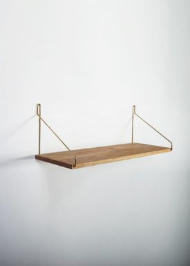FRAMA - Shelf - Oak Shelf - 60 cm. - Oak/Brass