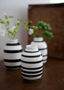 Kähler - Vase - Omaggio Minature vaser 3-pak - Sort Strib